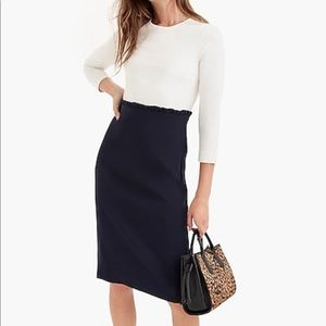 New Navy and white jcrew dress
